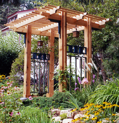 Image gallery japanese arbor for Japanese garden trellis designs